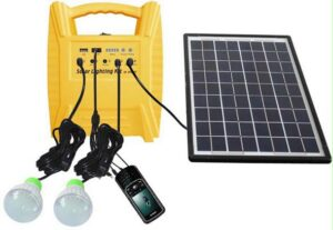 smaller solar panel with battery